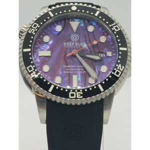 Deep Blue Abalone Dial Master 1k Diver Automatic